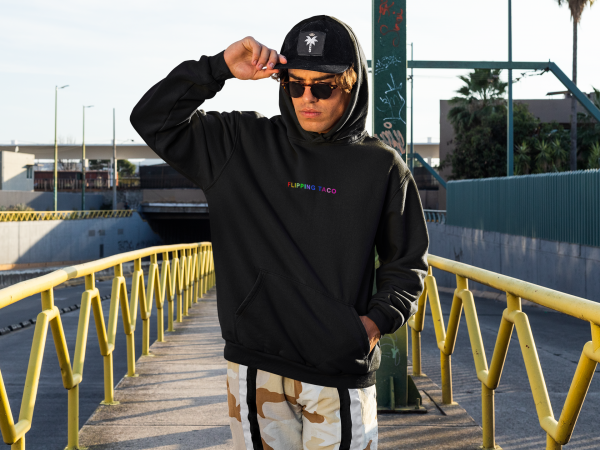 urban hoodie flipping taco