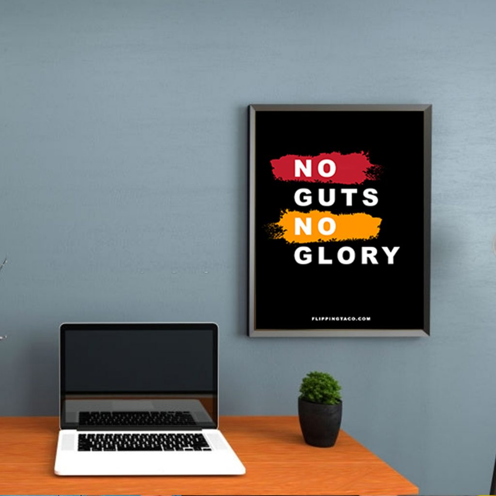 motivatie banner flipping taco